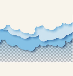 3d abstract paper cut of pastel blue vector