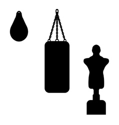 A punching bag vector