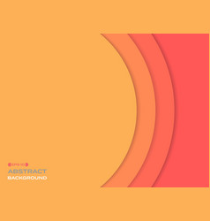 abstract of paper cut sun orange tone color vector image
