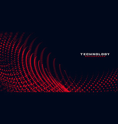 Abstract red flowing particles background vector