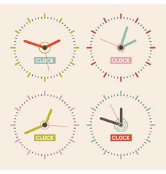Abstract Retro Clock Set vector