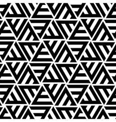 Abstract Striped Triangular Seamless Pattern vector image