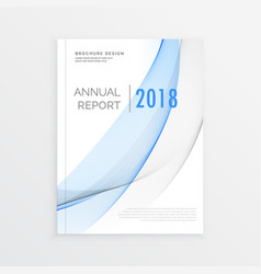 Annual report brochure design with blue ans gray vector