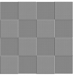 black and white houndstooth seamless plaid pattern vector image