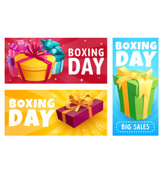 boxing day gift boxes christmas presents sale vector image