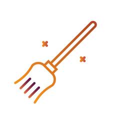 Broom linegradient vector