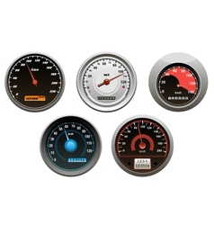 Car speedometers set vector image