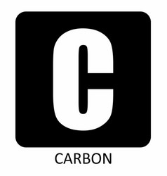 carbon symbol vector image