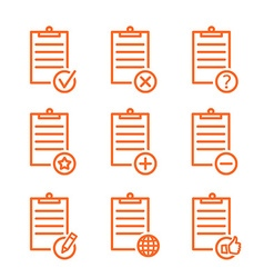 check list icons line design vector image