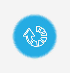 clockwise icon sign symbol vector image