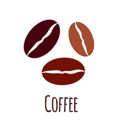 coffee beans icon simple flat vector image