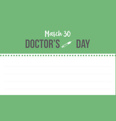 collection stock doctor day style greeting card vector image