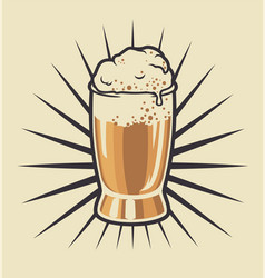 color beer glass vector image