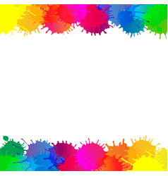 Colorful stain borders vector
