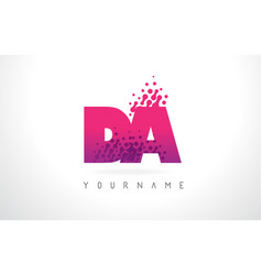 Da d a letter logo with pink purple color and vector