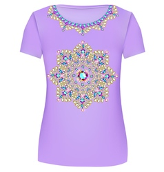 Design T-Shirts Print a fashionable ornament vector image
