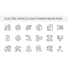 Electric vehicle power icon vector