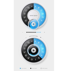 elements infographics with buttons and menus vector image