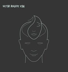 Empathy icon line element of vector