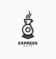 express cafe logo vector image