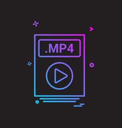 file files mp4 icon design vector image