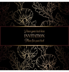Floral background with antique luxury black and vector