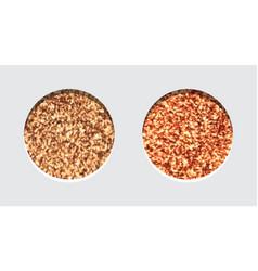 glitter eyeshadow tinsel shimmer lipstick or vector image