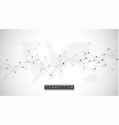 global network connection social network vector image