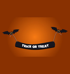 halloween background picture with flying bats vector image