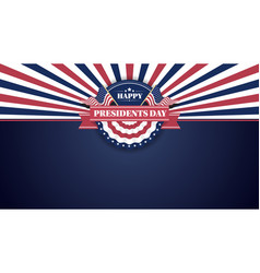 happy presidents day banner background and vector image