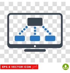 Hierarchy Monitor Eps Icon vector image