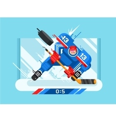 Hockey player character vector image