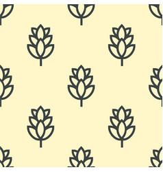 Hop beer seamless pattern background vector