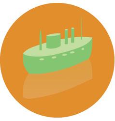 icon toy ship vector image