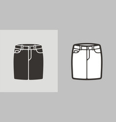 Jean skirt vector