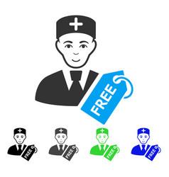 joy free doctor icon vector image