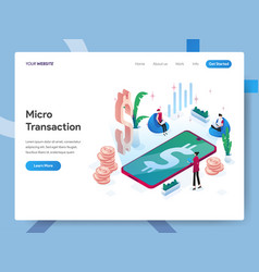 landing page template microtransactions vector image