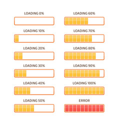 loading bar vector image