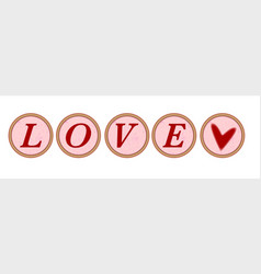 Love typewriter key vector