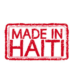 made in haiti stamp text vector image