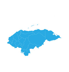 Map of honduras high detailed map - honduras vector