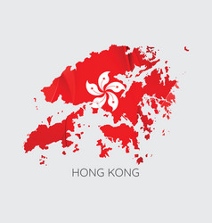 Map of hong kong vector