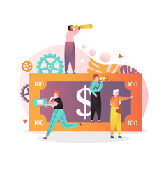 money promotion concept for web banner vector image