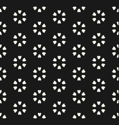 Monochrome seamless pattern abstract floral vector