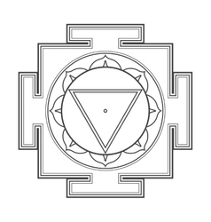 Monocrome outline Tara yantra vector