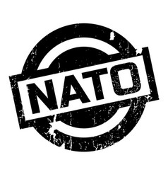 nato rubber stamp vector image