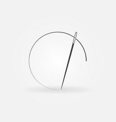 Needle concept icon or logo vector