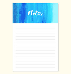 Notes to do list daily planner template vector