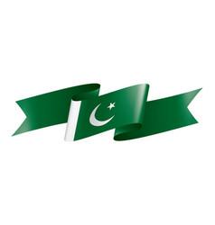 Pakistan flag on a white vector