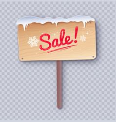 Paper cut sale wooden signboard vector